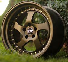"""18"""" ESR SR02 18x8.5 5X100 +30 Bronze Wheels For Dodge Neon SRT4 (Rims Set 4)"""