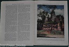 1934 magazine article about SIAM, people, history, Bangkok etc Color photos