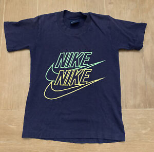Vintage Boy's Nike Singke Stitch T Shirt Made In The USA Size M 10-12