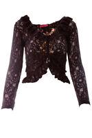 Schickes Spitzentop in Schwarz Damenkleidung Oberteil Shirt Top NEU