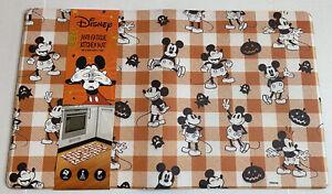 Disney Mickey Mouse Anti Fatigue Kitchen Mat Halloween Pumpkin 18x30 Ghost Plaid