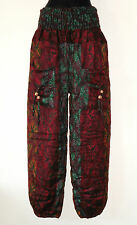 *Fair Trade* Hippy Boho Indian Made Butterfly Design Acrylic Wool Trousers TR7