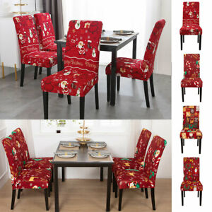 Christmas Stretch Chair Seat Cover Slipcover Printed Chair Cover Banquet Party