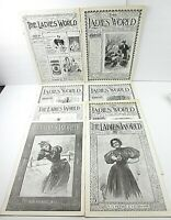 Vt./Antique The Ladies World Lot of 8 Magazines 1895-1898 Collectibles  A