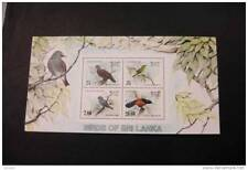 Sri Lanka 691-694 birds souvenir sheet block MNH 1983