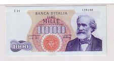Italia 1000 lire 1965 Verdi FDS UNC   pick 96d numero serie 139186  rif 2344