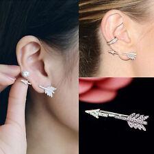 Hot Creative Women Bow Arrow Crystal Ear Stud Women's Earrings Jewelry Love Gift