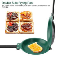 Double Side Non-stick Ceramic Coating Flip Frying Pan Pancake Maker Cookware US