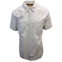 Harley-Davidson Men's Cream Finish Line Flag S/S Woven Shirt (466)