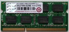 Barrette mémoire Transcend 2G DDR3 1066 SODIMM CL7 TS256MSK64V1U PC3-8500 2Go