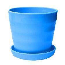 Blu Supporto fioriera in vaso fiori in plastica vassoio Decorazione da giar P7A1