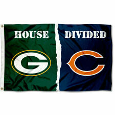 Green Bay Packers vs. Chicago Bears House Divided Rivalry Flag