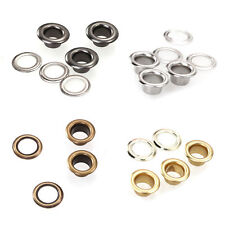 100 Eyelets Grommets and Washers in 4mm Silver for Pliers Scrapbook Leathercraft