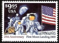 US #2842 Moon Landing Mint NH Express Stamp Armstrong + Aldrin $40. Retail Value