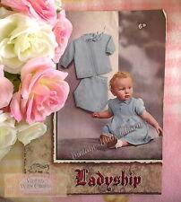 Vintage 1940s Baby Girls Dress, Coat & Pilch Knickers Knitting Pattern Copy.