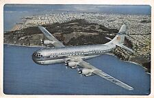 Pan Am Airways issued Double Decker Strato Clipper Airplane in flight