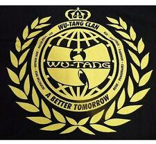 Wu-Tang Clan Hoodie Sweat Shirt Pull Over Black Men's Large