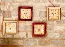 Wall Wood Clock NUT Natural Solid Handmade Wooden Home Art Decor Gift Sri Lanka