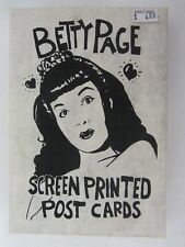 Betty Page ~ Post Cards ~ First Print ~ Limited Edition ~ Sealed ~ Rigomor 1991