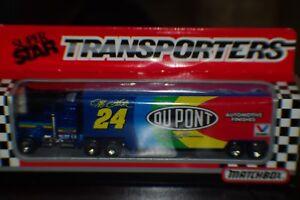 MATCHBOX 1993 JEFF GORDON DUPONT TRANSPORTER HAULER MIB