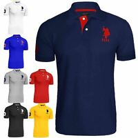 Kids US Polo Assn USPA Boys Children PE School Cotton Polo T Shirt Top 4-12 Y