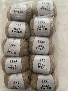 Lang Yarns Seta Tweed, 250g, beige, Seide und Baumwolle