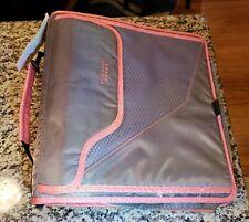 "NEW Five Star 3"" Zipper Binder School Organizer 900 Sheet Capacity 3 ring Pink!"