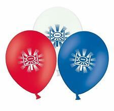 """Rugby Ball and Posts  12"""" Red, White and Blue Asst Latex Balloons pack of 15"""