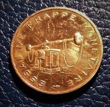 FRANCE:ESSAI DE FRAPPE MONETAIRE OFFICIEL:5 EURO CENT 2 EME SERIE FRAPPE MONNAIE