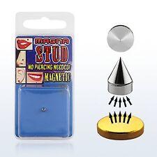 Fake Illusion Magnet Monroe Magna Nose Ear Lip Stud Non Piercing Magnetic Spike