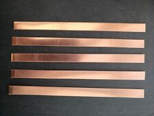 200mm x 12mm x 0.9mm  Copper Stamping Blank Bracelet 5pcs 20 Gauge