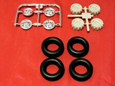 Model Truck Parts Moebius Models 1972 Ford Pickup Wheel Covers Wheels and Tires