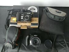 Bundle of 2 Nikon Coolpix Digital Cameras with charger and Lowepro cases