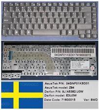 Tastiera Qwertz Svedese ASUS Z94 X50 X51 Serie E3U0W 9J.N5382.U0W 04GNF01KSD01