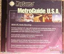 Garmin Mapsource MetroGuide Usa v5 + trip & waypoint Func.