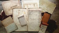 Circa 1860-1884 Handwritten Diary Archive Steamboat Capt Kentucky Steamer Jessie