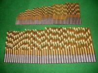 110 tlg. HSS-G  TiN-Spiralbohrer Satz  DIN 338/RN     1,0 mm -  6,0 mm x 0,5 mm