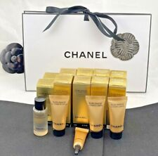 "CHANEL ""SUBLIMAGE"" LOT OF TEN (10) SAMPLES BNIB INCLUDING SERUM/CREME +GIFT BOX"