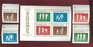 Bahamas 1984 4 stamps+ block № 565-68+ bl 42 set MNH CV=13.50€
