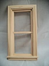 """WINDOW 2-9/15x5-1/16"""" Traditional non-working dollhouse 1:12 scale wood.5032"""