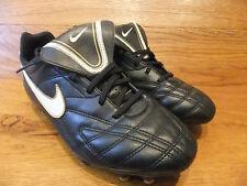 Nike JR TIEMPO NATURAL III FG Nero Scarpe Da Calcio Misura UK 5.5 EUR 38.5