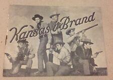 """Kansas Raiders"" Audie Murphy Scott Brady Old Danish Vtg Original Movie Program"