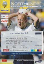 Football Programme plus Match Ticket>PRESTON NORTH END v BRIGHTON Nov 2002