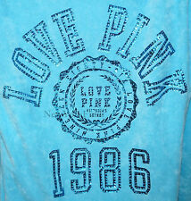 HOODIE VICTORIA'S SECRET LOVE PINK TERRY CLOTH Sweater Top Shirt Dog RHINESTONE