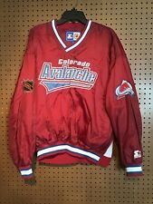 Starter Nhl Men's Sz Large Colorado Avalanche Pullover Jacket Stain #14