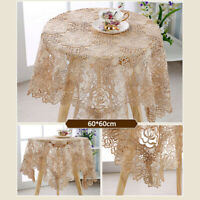 Retro Vintage Lace Table Cloth Cover Floral Tablecloth Wedding Home Decor New