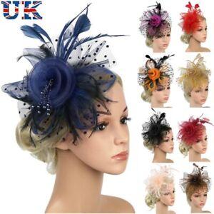 Feather Hair Fascinator Alice Headband Clip Ladies Day Wedding Royal Ascot Races