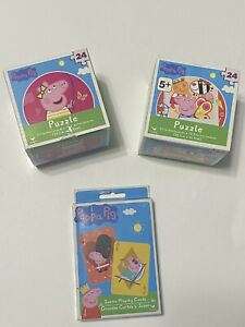 Peppa Pig 24 Pc Puzzle x2 + Jumbo Playing Cards