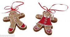 Decorazioni Gisela Graham di pan di zenzero per albero di Natale