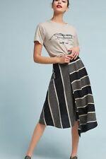 Anthropologie Nautical Striped Midi Skirt